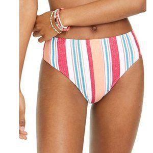 Roxy Juniors' Striped Bikini Swim Bottoms